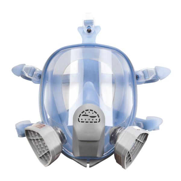 Helmaske - Gasmaske med dobbeltfilter