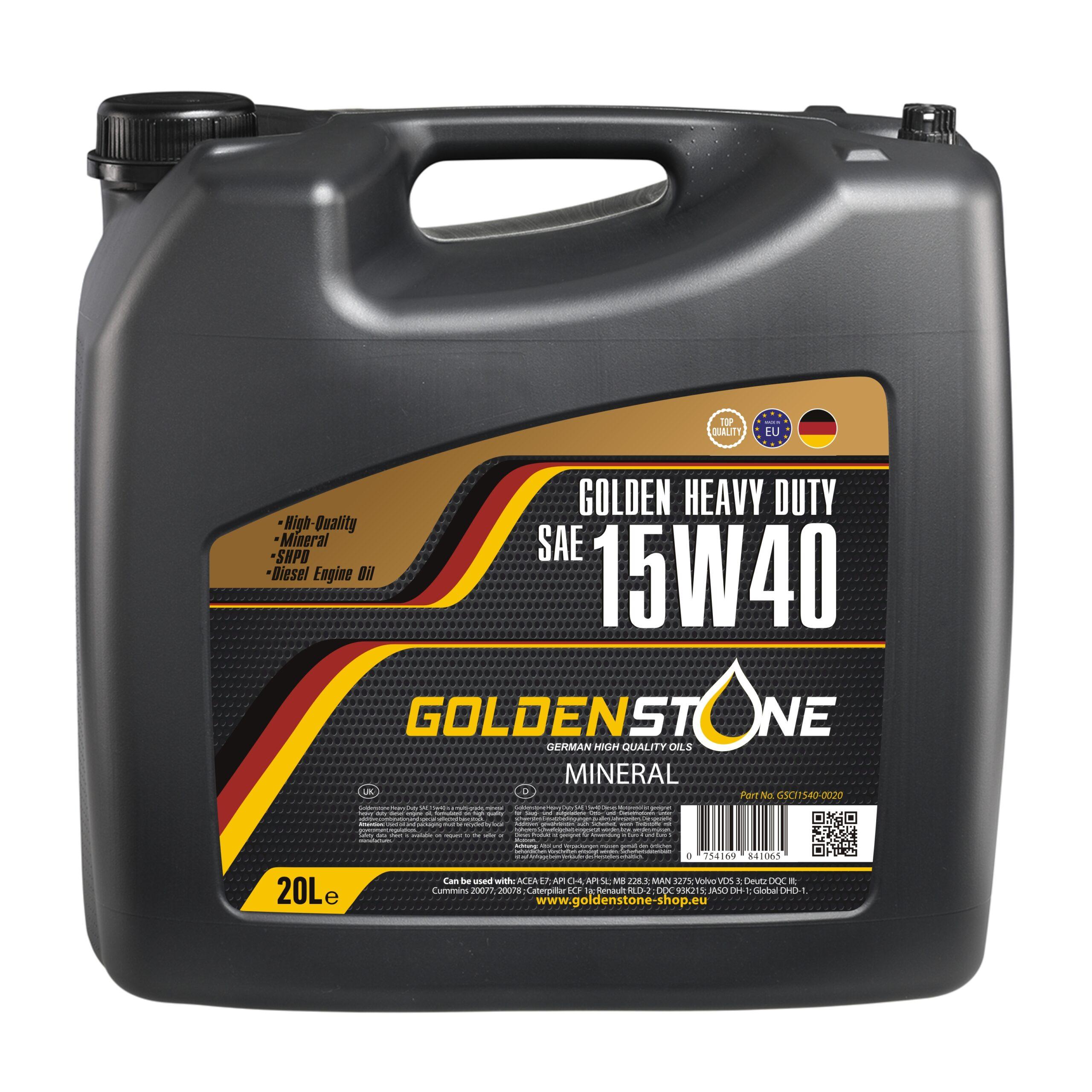 Goldenstone Motorolie 15W40 CI4 Heavy Duty 20L.