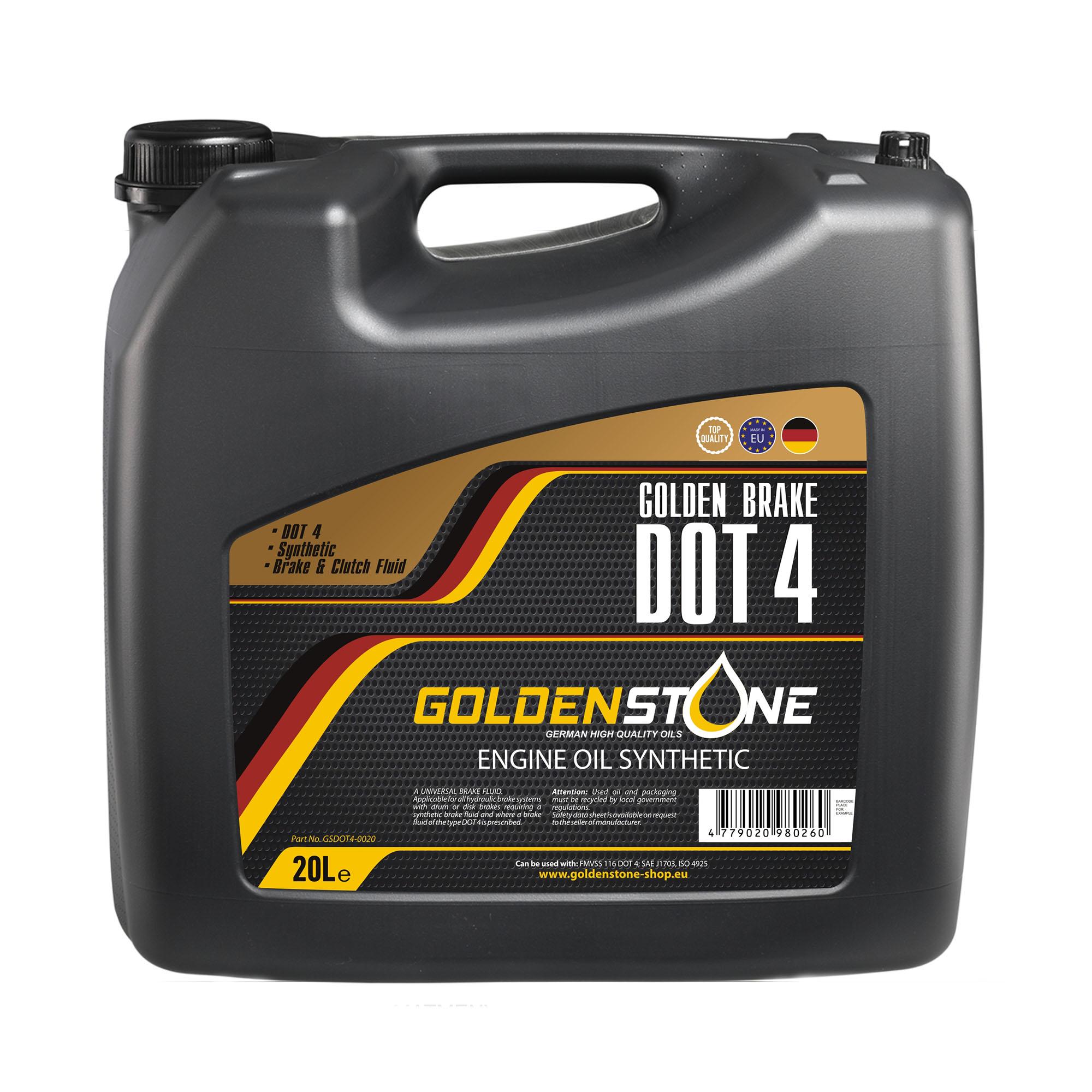 Goldenstone Bremsevæske Dot4 20liter