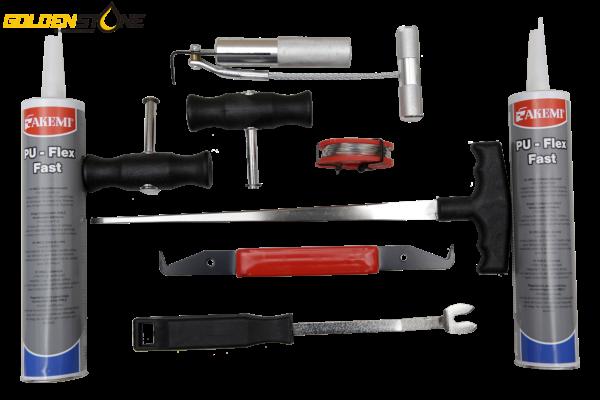 Rudeværktøj - værktøj til rudeskift med lim