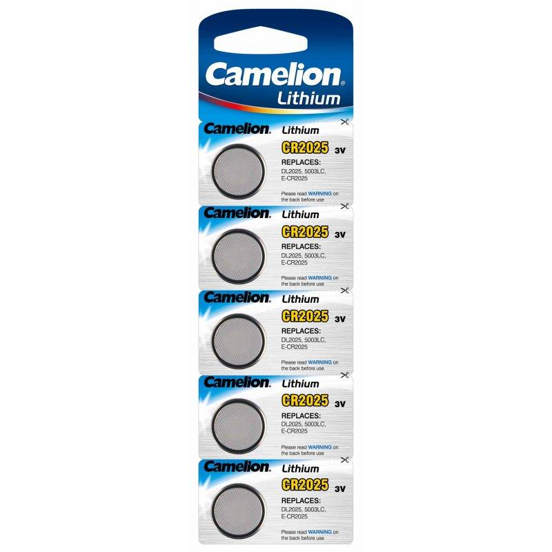 Knapbatteri CR2025 Camelion Lithium 5stk.