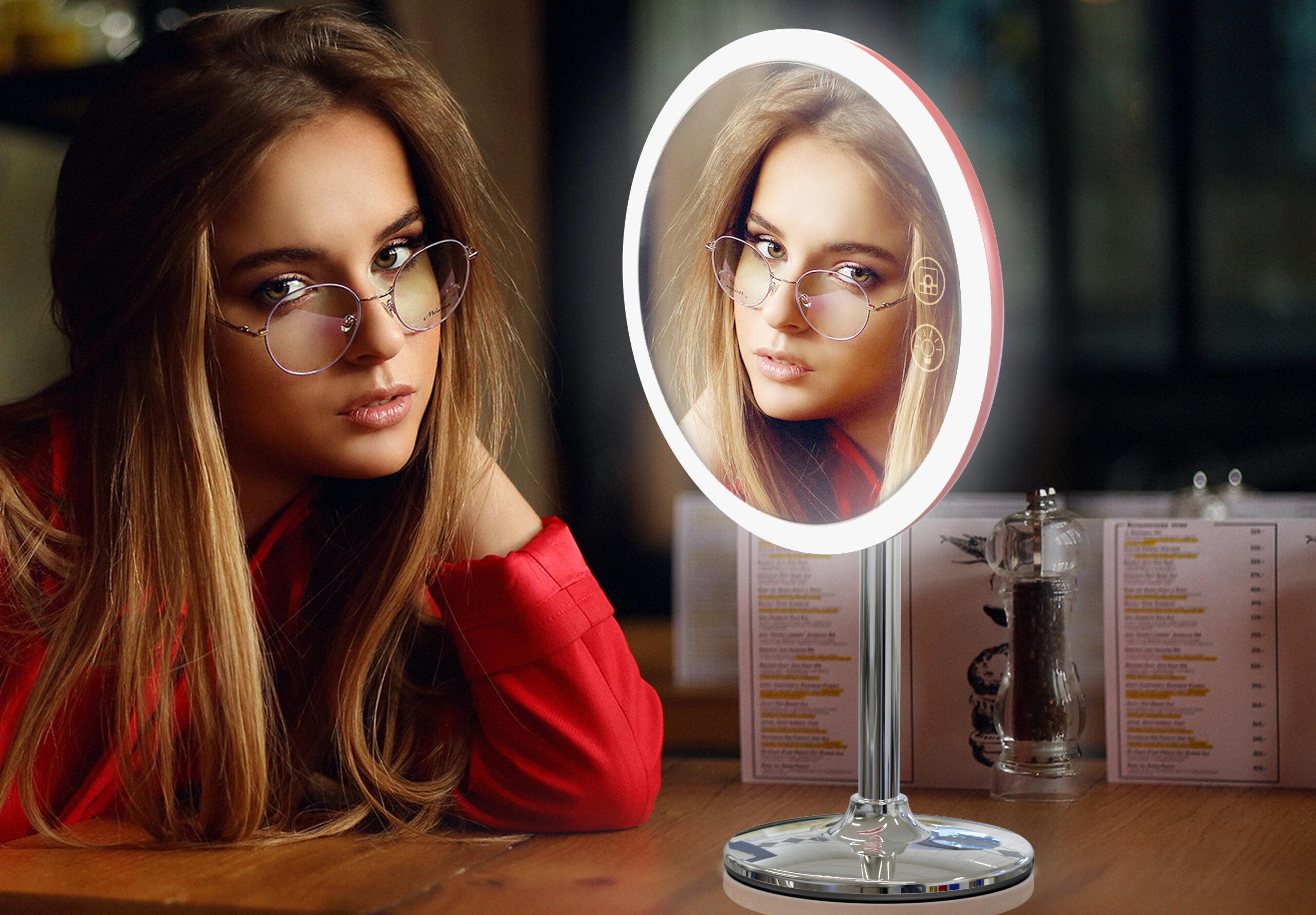 Makeup spejl med lys