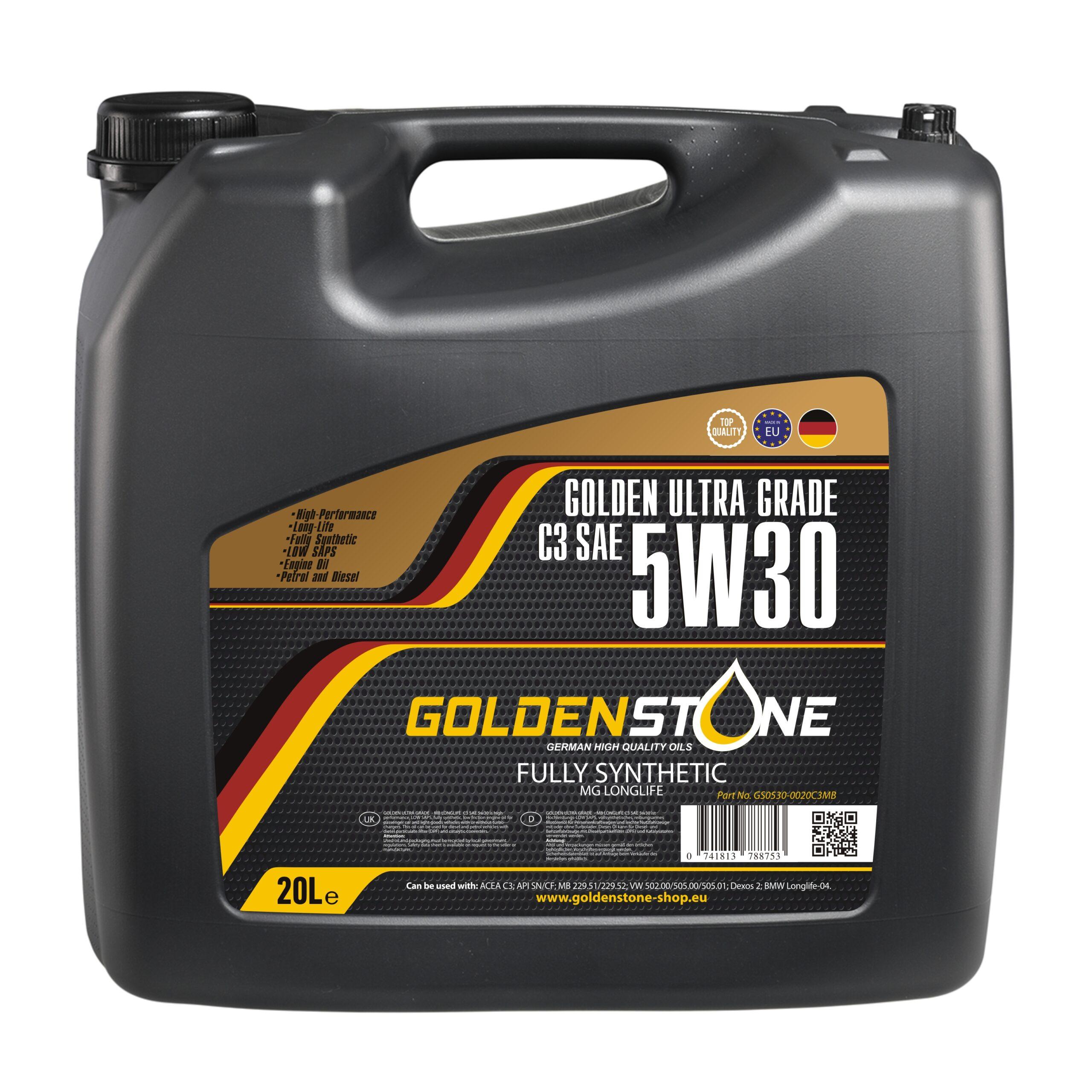 Goldenstone Motorolie 5W30 C3 LONGLIFE 20liter