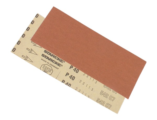 Slibepapir - P40, 115x280 mm