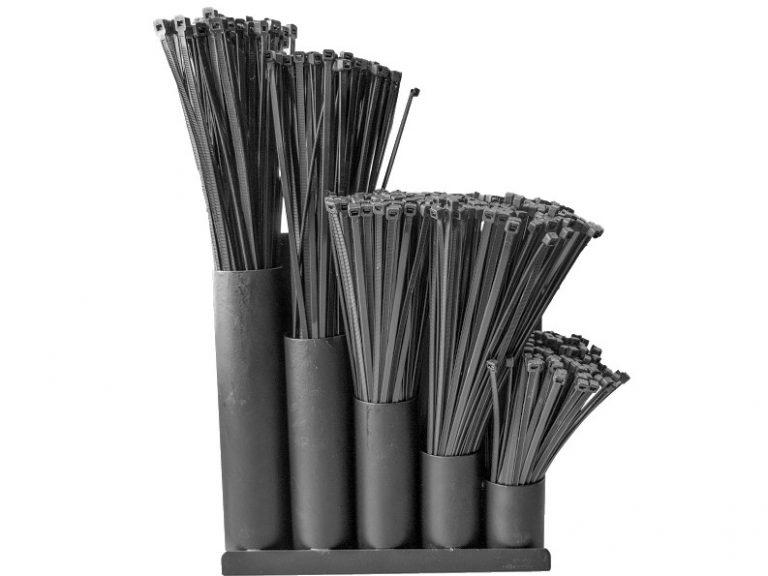 Kabelbinder sortiment, inkl. holder