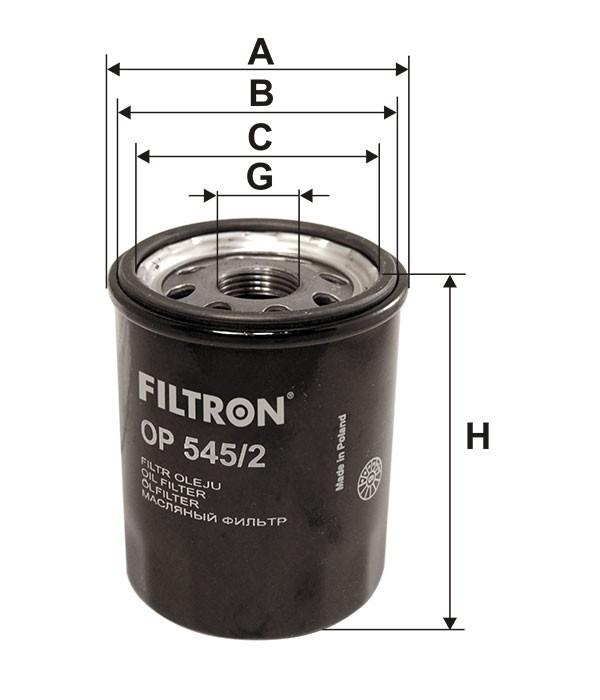 Oliefilter - Fiat / Citroen / Alfa mm