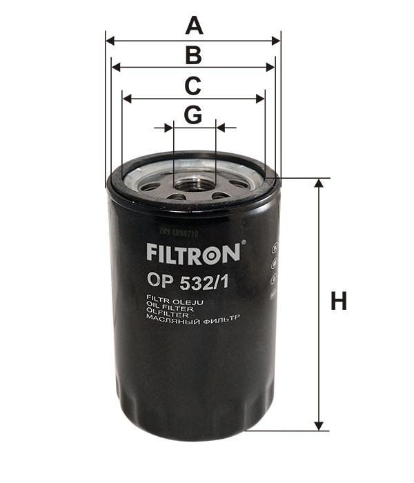 Oliefilter - Ford  OP532/1