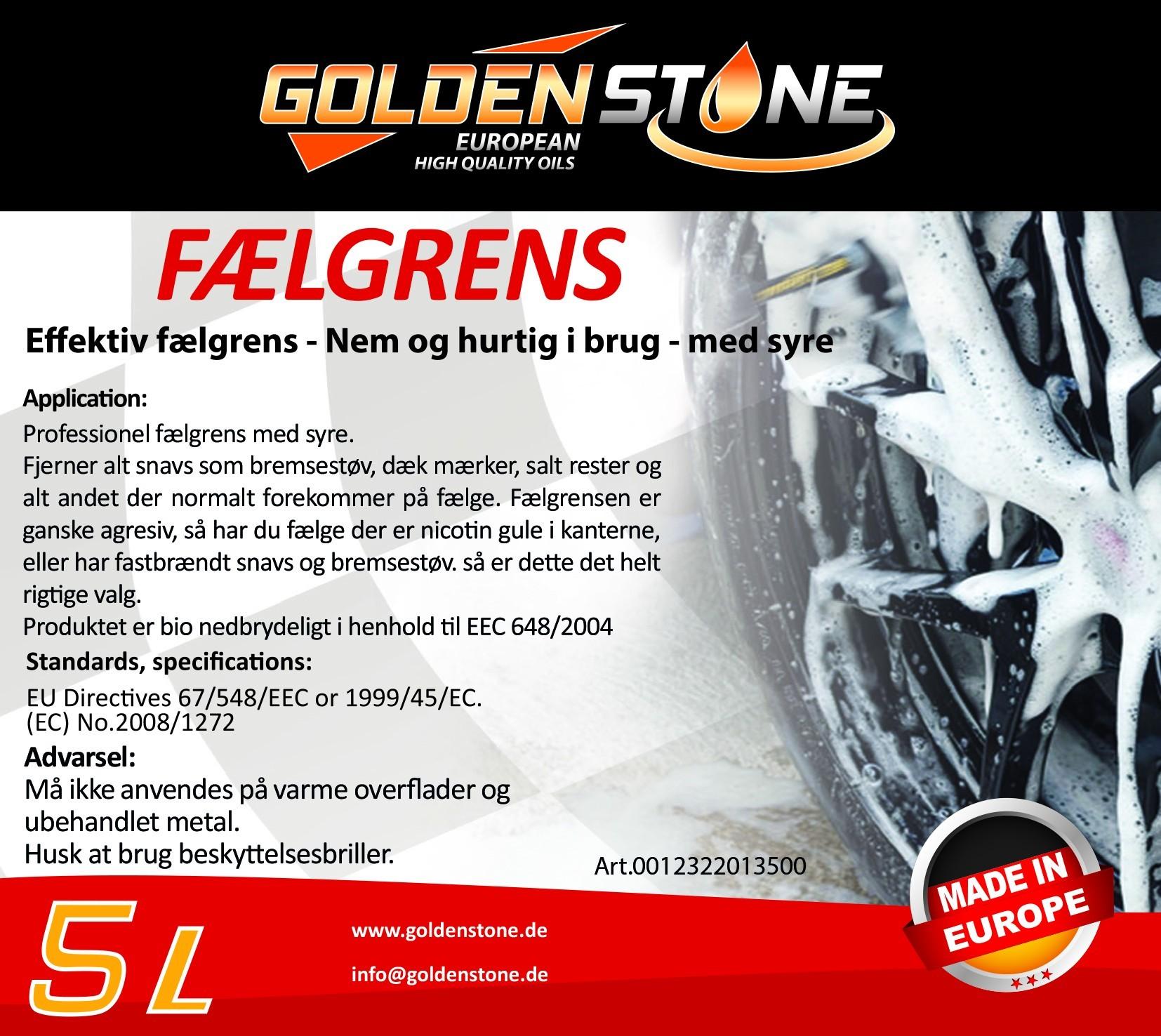 Goldenstone Fælgrens 5liter