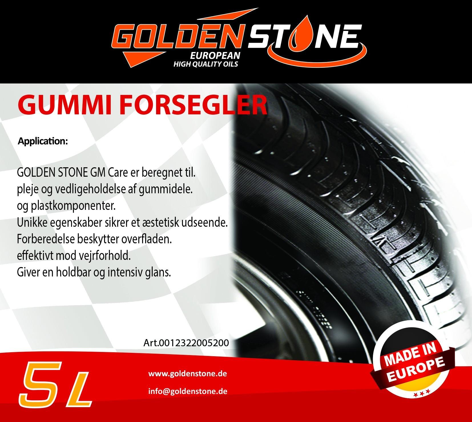 Goldenstone Dækshine - Gummiforsegler 5 liter