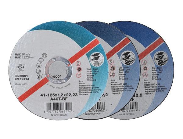 Skæreskiver 125 mm x1,0x22,2 - skæreskiver til vinkelsliber
