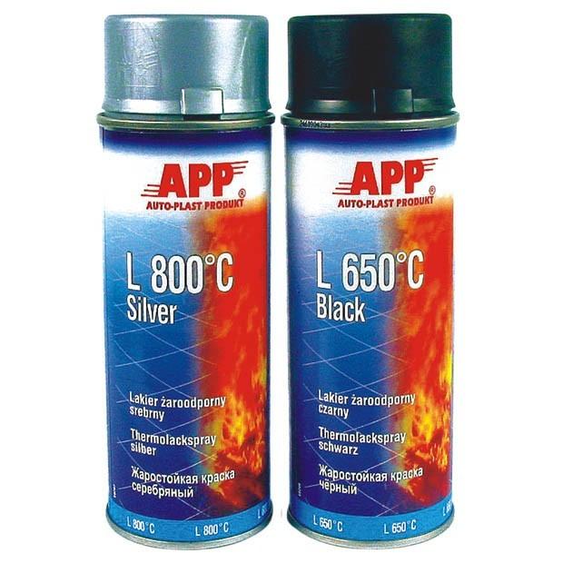 Varmefast spraymaling / Varmebestandig maling Sort 650°C